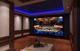 领秀翡翠山地下室小型家庭影院装修案例