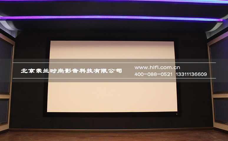 150寸OS透声画框幕布的大画面